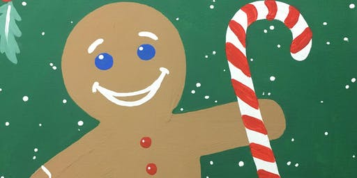 Painting Fundraiser for Kids 1st Preschool: Gingerbread Man
