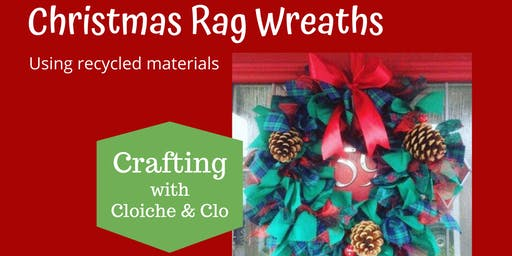 Rag Wreath from Recycled Materials