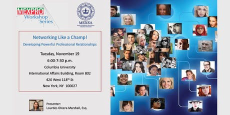 MexPro Workshop Series - Networking like a champ! tickets