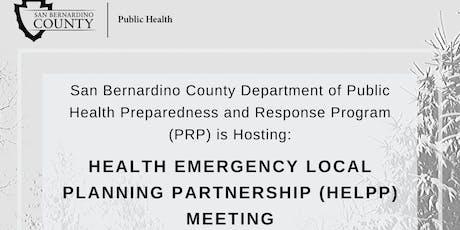 Health Emergency Local Planning Partnership (HELPP) Meeting tickets