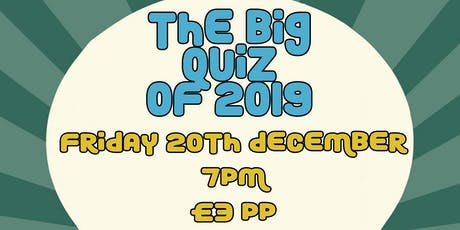 The Big Quiz of 2019 tickets