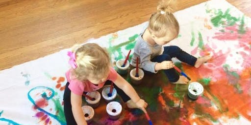 Toddler Time Painting at theCAPspot