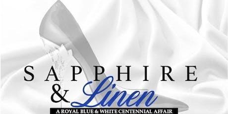 Sapphire & Linen - A Royal Blue & White Centennial Affair tickets