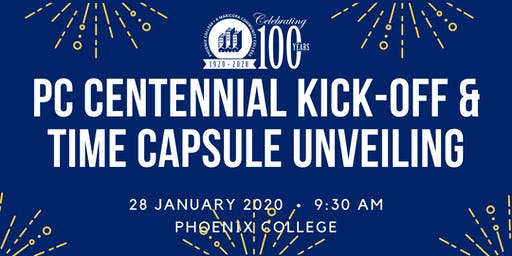 PC Centennial Kick-Off and Time Capsule Unveiling