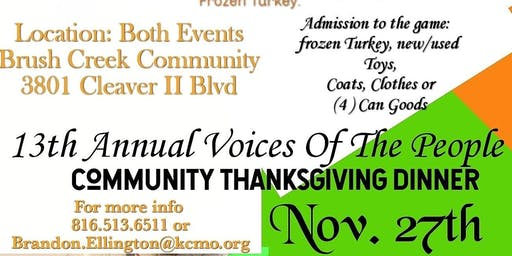 Voices Of The People Free Community Thanksgiving Dinner