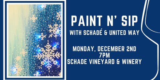 Paint N' Sip with Schade & United Way