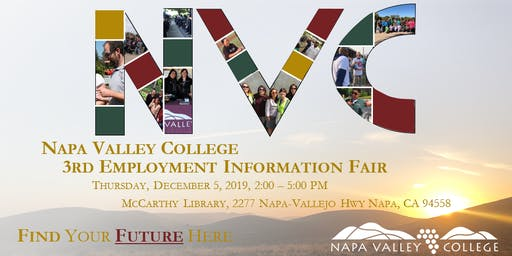 3rd Annual Napa Valley College Employment Information Fair