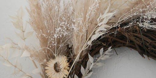 Winter Wreath DIY Flower Party