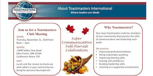 Super Communicators Fall Harvest Celebration