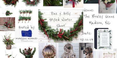 Pine & Holly Winter Wedding Styled Shoot