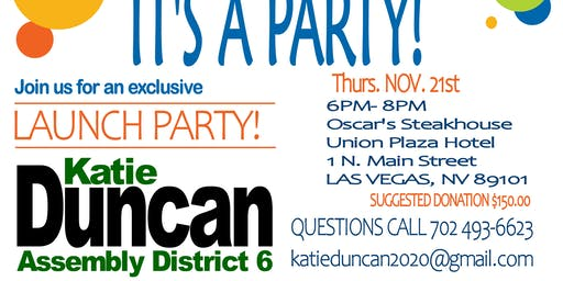 Launch Party for Katie Duncan 2020