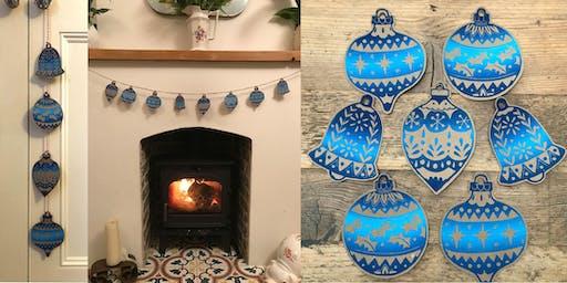 Linocut Christmas Decorations Workshop