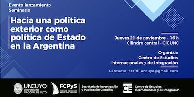 Hacia una política exterior como política de Estado en  la Argentina