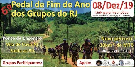 Pedal de Fim de Ano dos Grupo do RJ 2019 ingressos