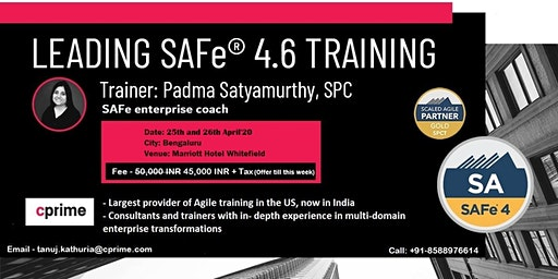 CPrime Leading SAFe Training in Bengaluru