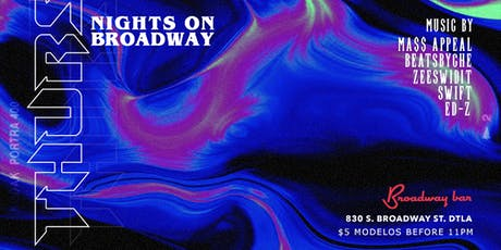 Thursday Nights On Broadway 12/19 tickets