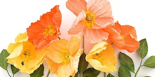 Taller de flores de papel: Amapola de Islandia