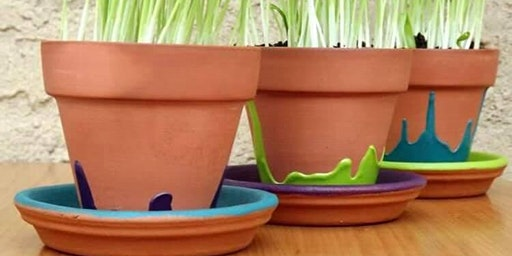 Paint Your Own Pot: Cat Grass Included!