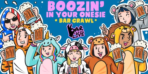 BOOZIN' IN YOUR ONESIE BAR CRAWL | RALEIGH, NC