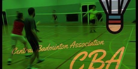 Central Badminton Association Badminton Doubles Event tickets