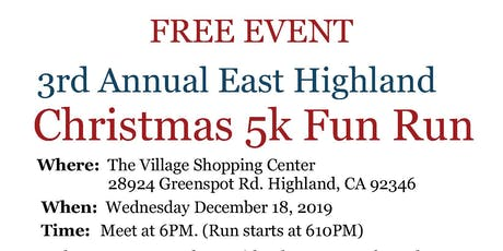 2019 East Highland Christmas Run tickets