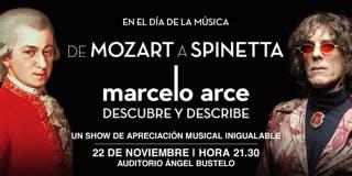 De   MOZART A SPINETTA      Marcelo Arce descubre y describe