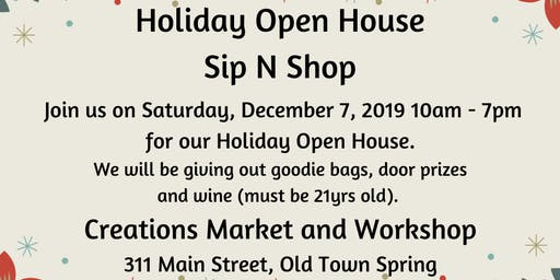 Holiday Open House Sip N Shop