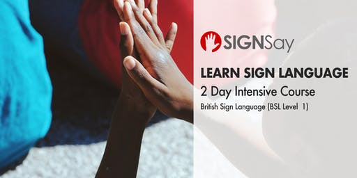 2 Day Intensive - British Sign Language - BSL Level 1 Course in London