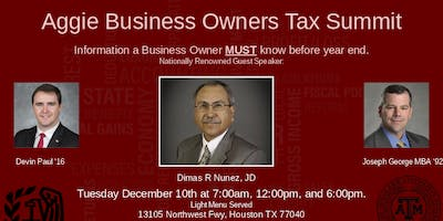 Aggie Business Owner Tax Summit