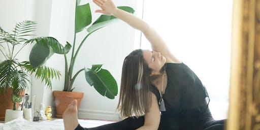 Yin yoga flow with essential oils