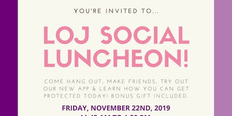 Ladies of Justice Social Luncheon in Mississauga! tickets