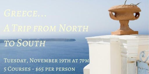 En Croûte Greece Wine Dinner: A Trip From North to South