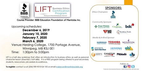 LIFT Business Ethics Certification Program tickets