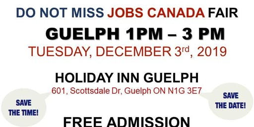 Guelph Job Fair – December 3rd, 2019
