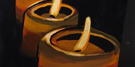 Candles with Painting & Vino at Back Forty Texas BBQ! tickets