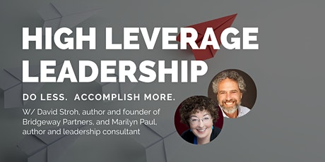 High Leverage Leadership tickets