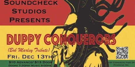 Duppy Conquerors (Bob Marley Tribute) at Soundcheck Studios tickets