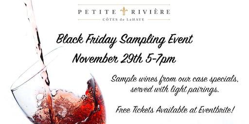 Black Friday Tasting Event at Petite Riviere Vineyards!