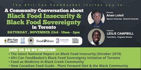 Black Food Sovereignty Initiative of Toronto - Community Conversation tickets