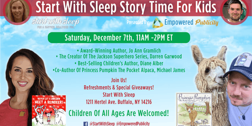 START WITH SLEEP Story Time for Kids Holiday Celebration