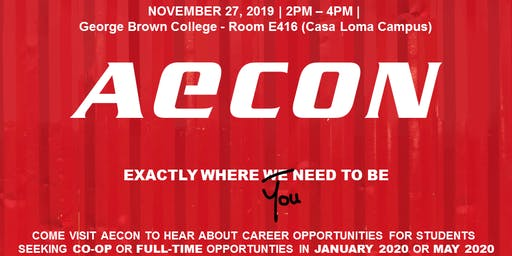Aecon Group Information Session for Construction & Engineering Students