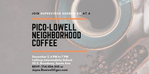 Pico-Lowell Neighborhood Coffee with Supervisor Andrew Do