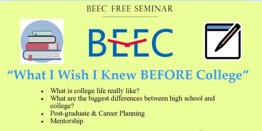 """""""What I Wish I Knew"""" Special Talk from Recent College Graduates"""