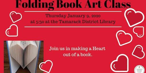 Folded Heart Book Art Class