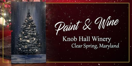 Knob Hall Winery Paint Event Tree with Lights