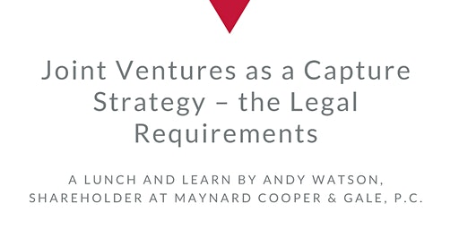 Joint Ventures as a Capture Strategy – the Legal Requirements