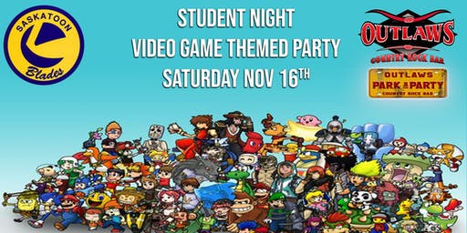 """Outlaws Park & Party BLADES student night """"VIDEO GAME PARTY"""""""