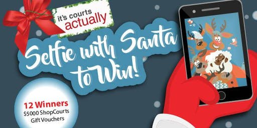 It's Courts Actually- Selfie With Santa to Win!