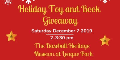 Holiday Book and Toy Giveaway at the Baseball Heritage Museum