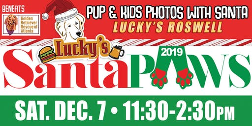 Santa Paws Photos with Santa Lucky's Roswell
